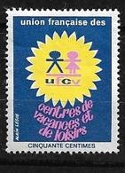 Vignette  UFVC  Union Française Des Centres De Vacances Et De Loisirs  Neuf  B/  TB  ! ! ! - Tourisme (Vignettes)