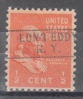 USA Precancel Vorausentwertung Preo, Locals New York, Long Eddy 745 - Vereinigte Staaten