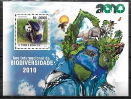 SAINT THOMAS ET PRINCE  BF 573  * *  ( Cote 17e ) Ours Panda Biodiversité - Ours