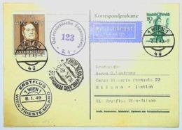 1949 REPUBLIK OSTERREICH - AIR MAIL - CENSURA - WIEN - Poste Aérienne
