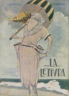 COP 88 - COPERTINA ORIGINALE - LA LETTURA - AGOSTO 1920 - FIRMATA ENRICO SACCHETTI - Non Classificati