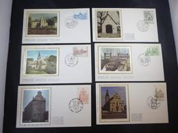 "BELG.1986 2217 2218 2219 2220 2221 & 2222 FDC's Zijde/soie : "" TOURISME "" - FDC"