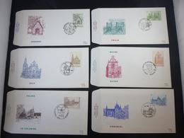 """BELG.1986 2217 2218 2219 2220 2221 & 2222 FDC's   : """" TOURISME """" - FDC"""