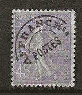FRANCE:, (*), PREOBLITERES N° YT 46, TB - 1893-1947