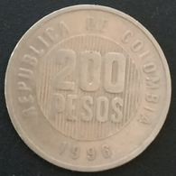 COLOMBIE - COLOMBIA - 200 PESOS 1996 - KM 287 - Colombie