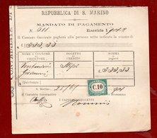 AUTOGRAFO DI LUIGI TONNINI  CAPITANO REGGENTE  REPUBBLICA DI S.MARINO - - Vecchi Documenti