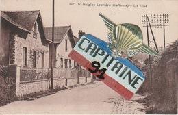 CPA  ST SULPICE LAURIERE HAUTE VIENNE  LES VILLAS - Lauriere