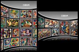 MALDIVES 2016 - Cubism, Picasso - YT CV=29 €, 5444-7 + BF973 - Picasso