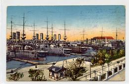 Pula Pola Schiffe In I. Reserve Old Postcard Posted 1914 B200401 - Kroatien