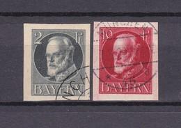 Bayern - 1920 - Michel Nr. 110+114 B  - Gest. - 34 Euro - Bayern