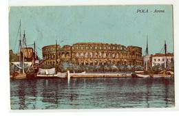 Pula Pola Arena Old Postcard Posted 1921? B200401 - Kroatien