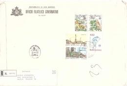 RACCOMANDATA CON EUROPA 1986 FDC - Lettres & Documents