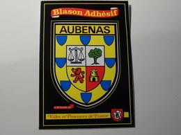 Blason écusson Adhésif Autocollant Aubenas (Ardèche)   Aufkleber Wappen Coat Of Arms Sticker Adesivo Adhesivo - Obj. 'Remember Of'
