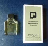 Miniature De Parfum - Paco Rabanne - 5 Ml - Avec Boite Et Pleine - Miniatures Men's Fragrances (in Box)