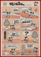 Le Noêl De Tonic. Bande Dessinée En Une Planche De Barberousse, Pseudonyme De Philippe Josse. 1965. - Vieux Papiers
