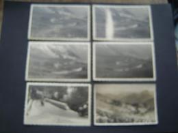 6 X PHOTOGRAPHIE Ancienne 1960 : CYCLISME / TOUR DE FRANCE / COL DU ? / MOTO DE PRESSE JOURNAL LE SOIR - Cyclisme
