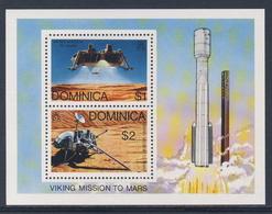 Dominica 1976 B38 = Mi 503 /4A YT B38 SG 541 ** Viking Space Mission - Lander + Space Vihicle, Mars / Viking-Raumschiff - Südamerika