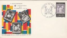 FDC Yvert 1870 Journée Du Timbre LE VIGAN Gard 13/3/1976 - 1970-1979
