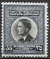 JORDANIE    -   Roi Hussein ,  35 Fils  Oblitéré - Jordan