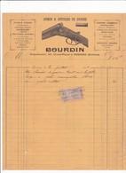 80-Bourdin..Armes & Articles De Chasse, Fusils Chook, Lefaucheux.....Péronne.(Somme)...1909 - Autres