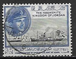 JORDANIE    -   Roi Hussein  /  Bateau  /  Port D' Aqaba,   Oblitéré - Jordan