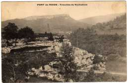 PONT-de-ROIDE Tranchée De Rochedane  1910 - Other Municipalities