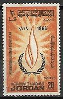 JORDANIE    -   1968 .  Droits De L' Homme,   Oblitéré. - Jordan