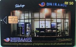 MALDIVES  -  Phonecard  -  DHIRAAGU  -  Teleshop  -  Rf 50 - Maldivas