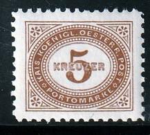AUTRICHE - TAXE N°4 * (1894) 5k Brun - Dentelure : 10,5 - - Postage Due