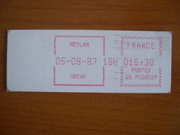 Vignette Distributeur  15.30 Meylan (38) - 1969 Montgeron – White Paper – Frama/Satas