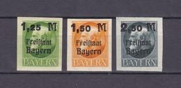 Bayern - 1920 - Michel Nr. 174/176 B  - Postfrisch - Bayern