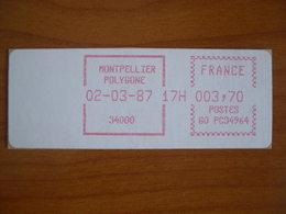 Vignette Distributeur  3.70 Montpellier Polygone (34) - 1969 Montgeron – White Paper – Frama/Satas