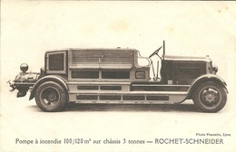 -  CAMION POMPIERS -  ROCHET-SCHNEIDER - Camions