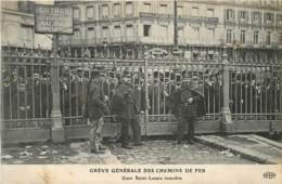 GREVE GENERALE DES CHEMINS DE FER GARE SAINT LAZARE INTERDITE - Otros