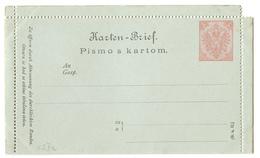 K.u.k. Bosnia Hercegovina Postal Stationery Lettercard Pismo S Kartom -not Posted  B200401 - Bosnie-Herzegovine