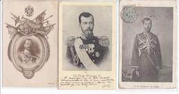 3 Cpa Old Pcs Russie Russia  Tsar Czar  Nicolas Royauté Royalty - Russie