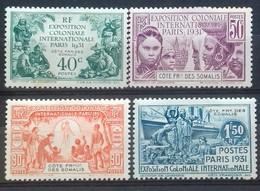 N°137 à 140 EXPOSITION COLONIALE INTERNATIONALE DE PARIS DE 1931 COTE 36 € NEUFS * MH (n°137 Et 140 Petites Tâches) B/TB - Unused Stamps