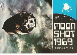 CP ASTRONOMIE COMMERATIVE POSTCARD APOLLO 11 TIMBRE ANNIVERSAIRE ? OBLITéRé WASHINGTON SEPT 1969 / MOON LANDING 1969 - Astronomie