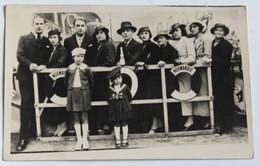 Belle Carte Photo Foire Du Mail 1935 Orléans ? Plusieurs Personnages Avec Montage Photo Paquebot Normandie - Orleans