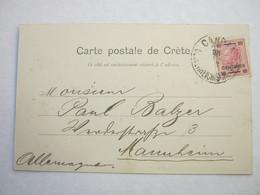 1903 , CANDIA , Seltener Stempel Auf Ansichtskarte Des Ortes - Oostenrijkse Levant