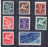 1930  SOGGETTI ALLEGORICI POSTA AEREA Serie Senza 10 Lire NUOVO - 1900-44 Victor Emmanuel III