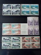 FRANCE.1954.N°976 à 981. Série TOURISTIQUE . Neufs++Bloc De 4. - Francia