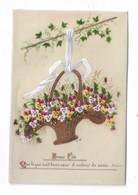 CPMJ4482 BONNE FETE (CELLULOID)(PANIER)(PENSEES) (LIERRE) - Cartes Postales
