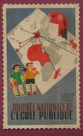 310320B - GRANDE VIGNETTE TIMBRE Journée Nationale De L' école Publique 100F - Scolaire Marianne écolier - Autres