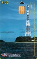 MALDIVES  -  Phonecard  -  DHIRAAGU  -  Antenne  -  Rf 30 - Maldivas