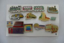 LOT N°4 De 13 PIN'S DIVERS : TER, SNCF, SUGE, TGV, FRET, BUS Et Autres ... - Transports