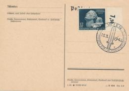 Deutsches Reich - 1942 - 12+38Pf Helden Gedenktag On Postkarte Cancelled In Wien - No Address - Briefe U. Dokumente