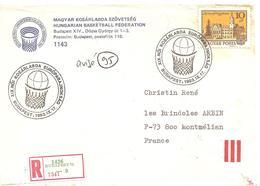 1983 Championnat D'Europe De Basket Ball En Hongrie: Courrier Du Comité D'Organisation Recommandé - Basket-ball