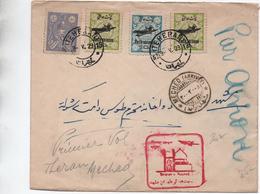 1929 - ENVELOPPE PAR AVION De TEHERAN (IRAN) - Iran