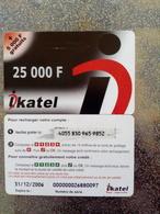 MALI PREPAID IKATEL 25000F + 5000F GRATUITS UT VALID 31.12.2006 - Mali